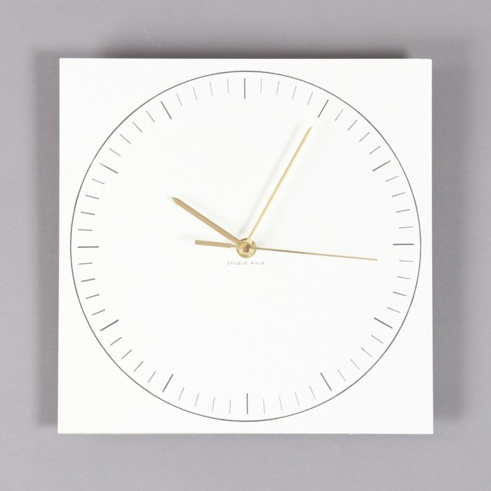 Paper clock in minimalist Scandinavian style. Designed by Wald. Find it on Chalk & Moss (chalkandmoss.com).