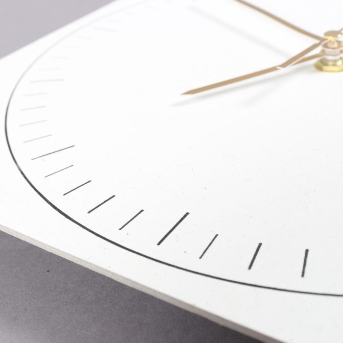 Paper clock by Wald, on natured connected homeware store chalkandmoss.com.