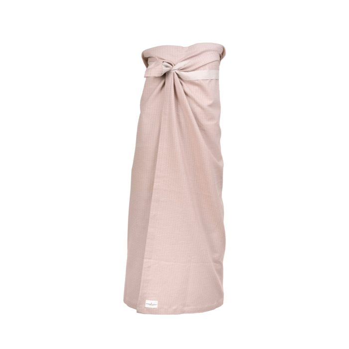 This bath towel goes almost down to your feet! Stone rose, other Scandi colours available, all in organic cotton.