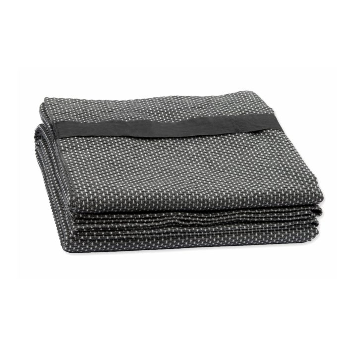 These extra large bath sheets make excellent beach towels. Quick drying and compact. Designed in Denmark, made in India using GOTS certified organic cotton. This is the dark grey model.