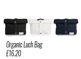 Organic lunch bag by The Organic Company, available on chalkandmoss.com.