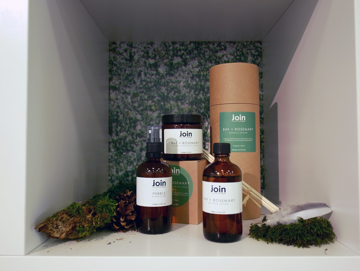 Nature connected homeware design, featuring 100% natural soy wax and essential oil candles and diffusers by Join. Handmade in London, with magical spells that mentally take you back into the forest.