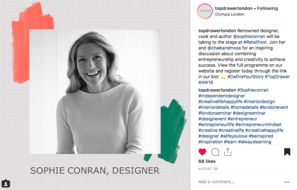 Sophie Conran interview at Top Drawer with Anna Sjostrom Walton from Chalk & Moss: HOW TO COMBINE ENTREPRENEURSHIP & CREATIVITY TO ACHIEVE SUCCESS