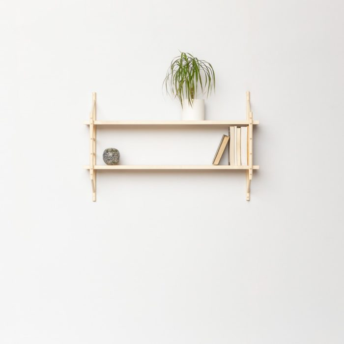 Small shelving set, handmade by John Eadon. The shelving units can be bought as components or as sets (large or small). Long lasting, intended to be passed down the generations. The screw free joins are simply beautiful.