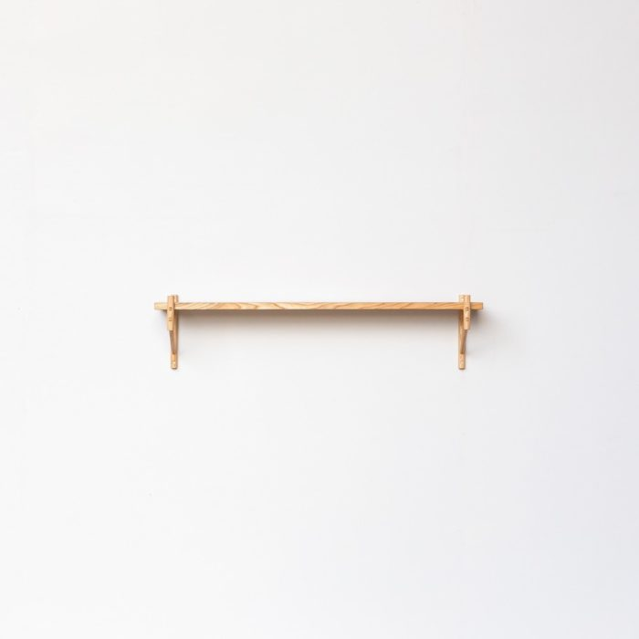 The single one rung shelf makes a beautiful book, plant or picture stand. Hand crafted by John Eadon in the UK.