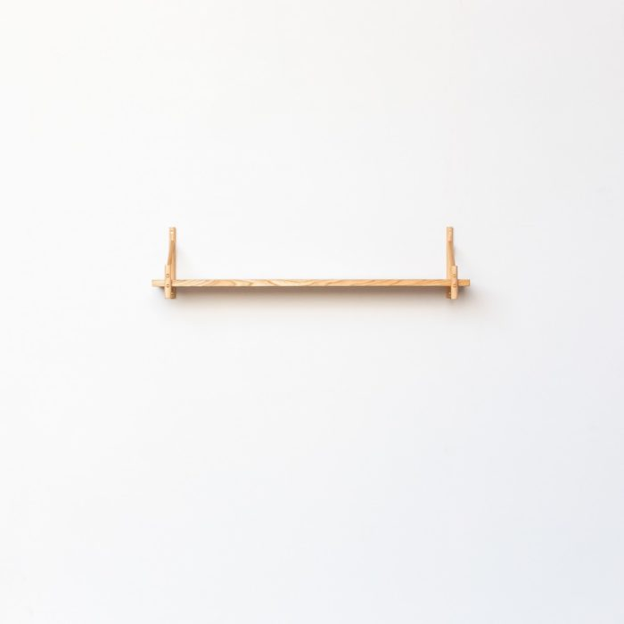 Single shelf by John Eadon. Shelves can be bought individually or as sets, in two depths.