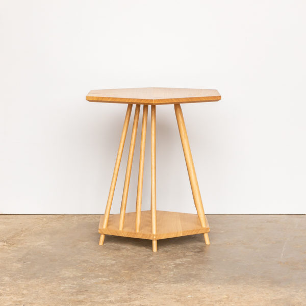 Magazine rack / side table by John Eadon. This also makes a beautiful plant stand. Choose from oak, elm, ash or sycamore.