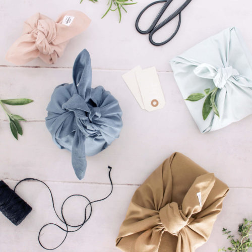This set of 3 fabric gift wraps, or furoshiki wrap, is Scandinavia's take on the wonderful Japanese furoshiki wrap for plastic free gift wrapping.