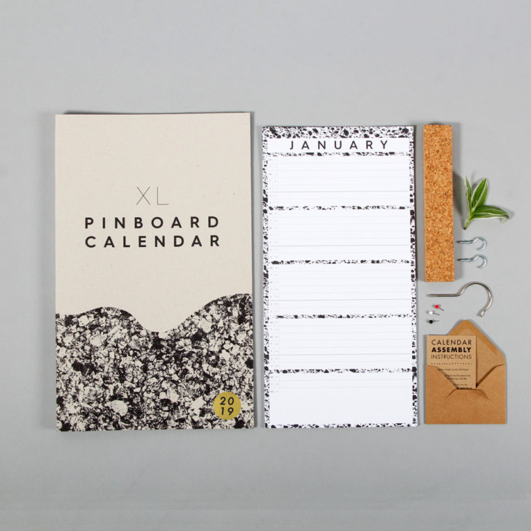 Wall calendar by Wald with one month per view. W23 x H57 x D2 cm - perfect for family calendars. There's also a smaller wall calendar, ideal for personal use or for couples. The wall year calendar includes 3 push pins. Responsibly made from 280gsm FSC certified paper and with refill pages are available year on year, making this a great sustainable choice for your annual calendar. Easy to assemble.