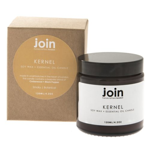 The Kernel soy candle is a masculine scented essential oil blend that transports us to the forest. Botanical top notes of cedarwood combined with a smoky base of black pepper make these soy candles a superb gift for men in your lives. This is the 120ml candle, with a burn time of 20-25 hours. See more essential oil Join candles, reed diffusers and room mists at chalkandmoss.com.