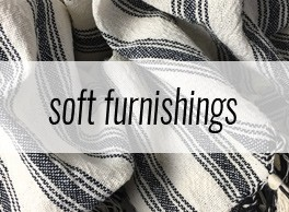 Soft furnishings in natural, sustainable materials on chalkandmoss.com.