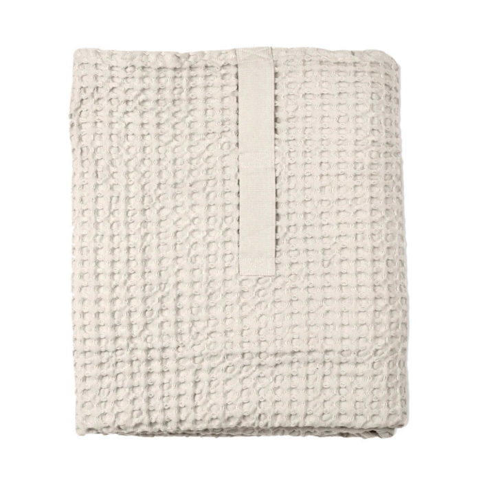 Big waffle towel and blanket in stone. 150x100cm.