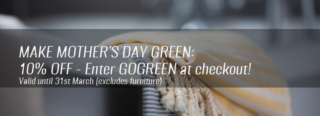 Eco gifts for her - go green this Mother's Day with 10% off at Chalk & Moss. Use code GOGREEN at checkout by 31st March.