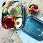Mintie Duo stainless steel lunch box set with compartments - BPA free eco metal packed lunch box set with compartments. Comes with snack pot silicone band and a cotton lunch bag. Lunchbox for kids, tiffin box, salad lunch box sandwich container. Size 17cm x 13cm x 5cm.