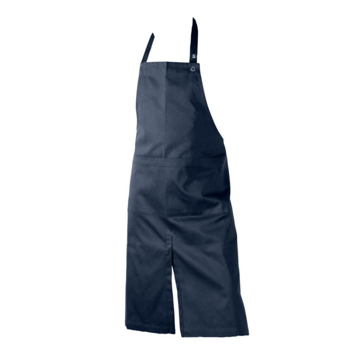 Dark blue apron with two large wide pockets. Kitchen apron or work apron perfect for home, cafes or shops.