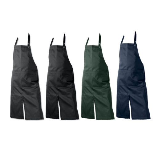 Stylish work apron with pockets, for the kitchen, cafe or shop? Then this sturdy work apron with two large, wide pockets is for you! Organic cotton, 80 x 95cm. Choose from 4 colours - black, dark blue, dark green and dark grey.