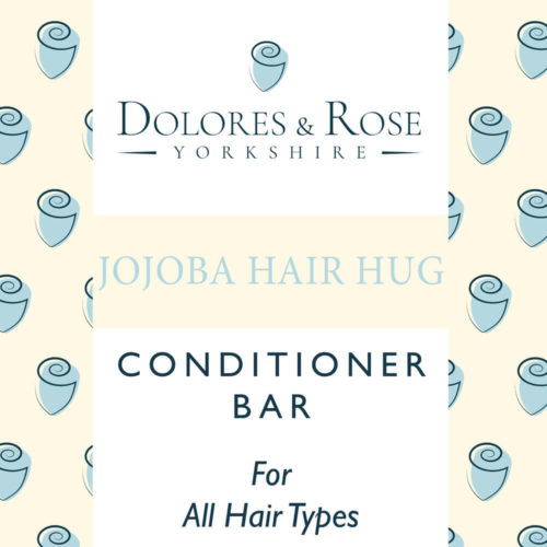 Conditioner bar for hair - moisturising, eco friendly and long lasting. A luxurious everyday conditioner bar for hair, full of nourishing ingredients to help calm your mane. Softens, hydrates and adds shine. Designed and made by a professional hair dresser team in Yorkshire, UK. Plastic free packaging and all natural ingredients. Use with Dolores & Rose solid shampoo conditioner bar for great results. Net Weight: 50g Size: 50mmx50mm x 2.5mm
