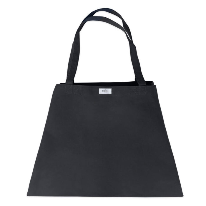 Carry your life around in style with this large overnight bag in organic cotton. This huge bag is practical and unique, perfect as a day bag, or used for going to yoga, the gym. The large size also makes it suitable as a lightweight weekend bag. Available in clay, black, dark blue and stone (seen here in black). Size: 90 X 45 X 35 cm