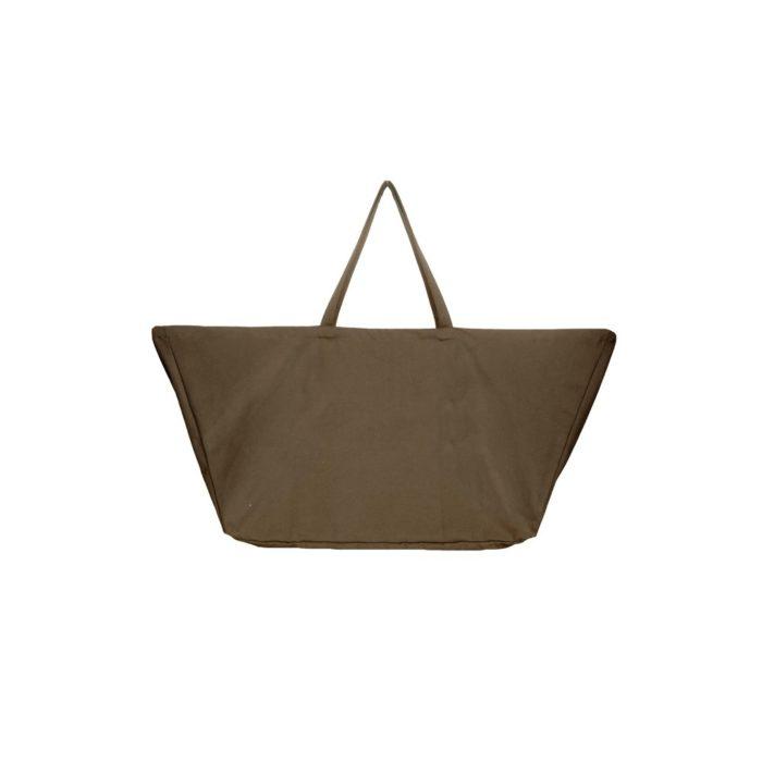 Big long bag III in clay - organic cotton oversized bag.