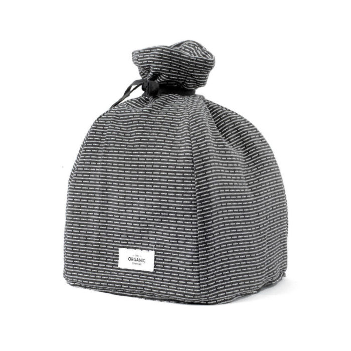 Cotton tea cosy in 100% organic cotton, with ample padding to stylishly keep your tea warm. Grey, rose, blue or earthy clay. Seen here in evening grey.