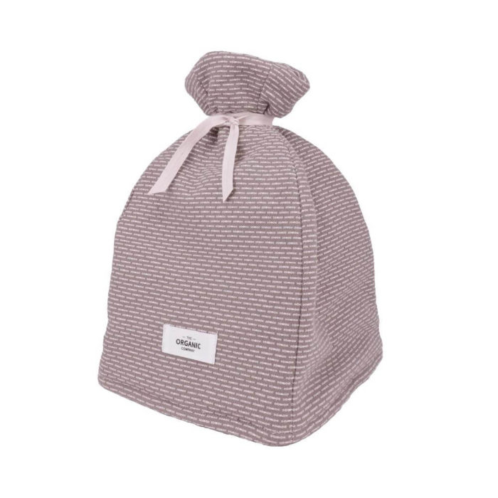 Cotton tea cosy in 100% organic cotton, with ample padding to stylishly keep your tea warm. Grey, rose, blue or earthy clay. Seen here in clay stone.