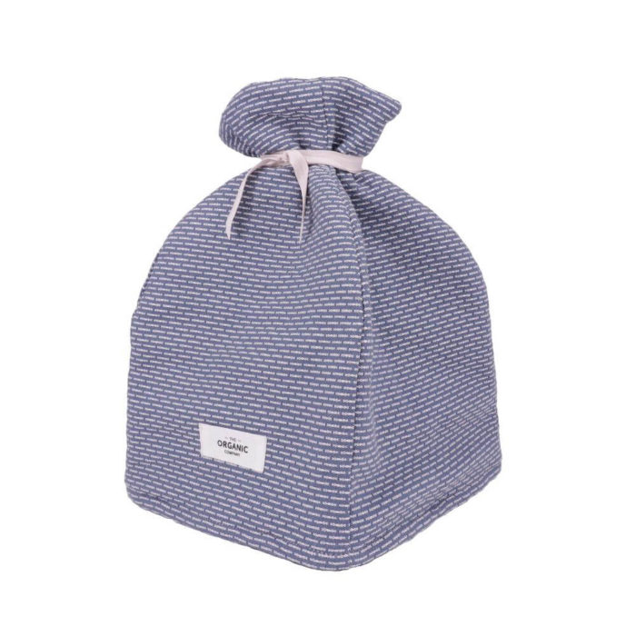 Cotton tea cosy in 100% organic cotton, with ample padding to stylishly keep your tea warm. Grey, rose, blue or earthy clay. Seen here in grey blue stone.