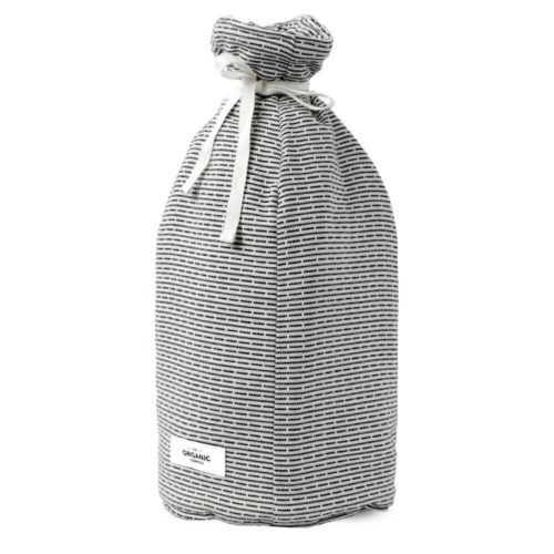 Stylish Scandinavian coffee cosy in padded organic cotton, with a textured piqué weave. Choose from two grey shades. This is morning grey.